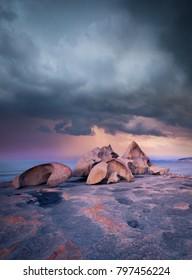 Storm over Remarkable Rocks, Kangaroo Island, South Australia