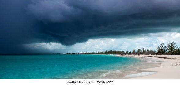 Storm in Playa Sirena, Cayo Largo, Cuba