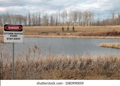 Storm pond, stay away