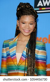 Storm Reid at the Nickelodeon's 2018 Kids' Choice Awards held at the Forum in Inglewood, USA on March 24, 2018.