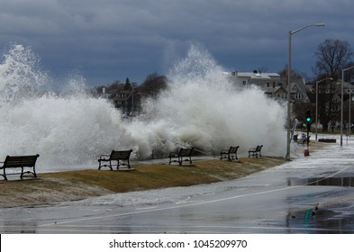Storm Riley on north shore Boston