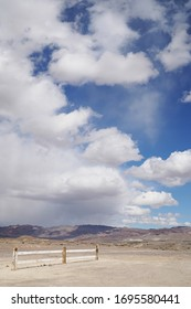 A storm rolls through the mountains in rural Nevada