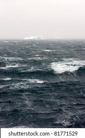 Storm at sea, Antarctica
