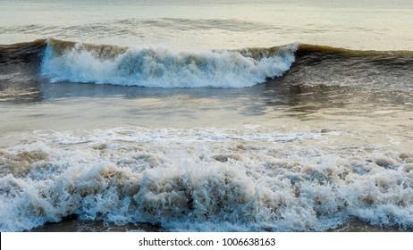 Storm at sea. Stormy sea.