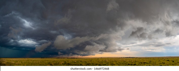 Storm system near Vega, Texas on 17 June 2019