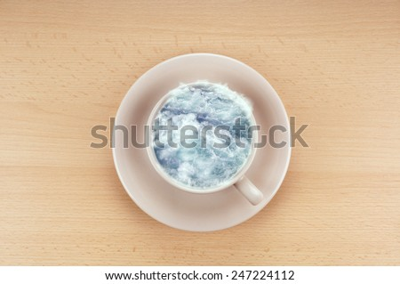 Storm Teacup Idiom Meaning Small Event Stock Photo (Edit Now