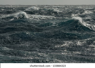 Storm waves. Pacific ocean