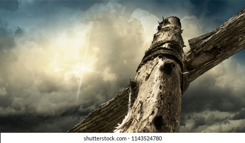 Stormclouds at the Cross of Jesus