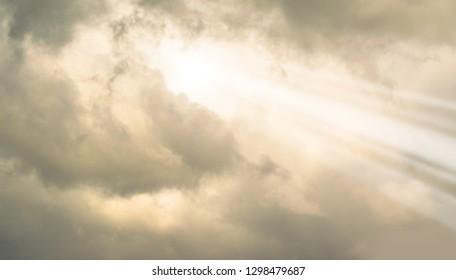 Stormclouds with Sunlight Bursting Through