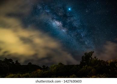 Storms Sweep Under Milky Way On Kauai
