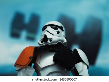 Stormtrooper from starwars whit tie-fighters