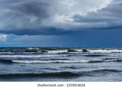 Stormy clouds over Baltic sea, Latvia.