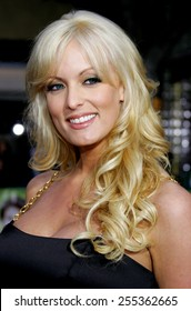 """Stormy Daniels attends Los Angeles Premiere of """"Knocked Up"""" held at the Mann Village Theatre in Westwood, California, on May 21, 2007."""