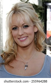 """Stormy Daniels attends the Los Angeles Premiere of """"The Fast and the Furious: Tokyo Drift"""" held at the Universal Studios in Hollywood, California on June 4, 2006."""