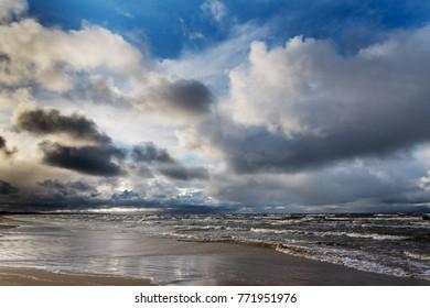 Stormy day, Baltic sea, Latvia.