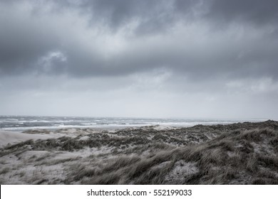 Stormy day at the north sea.
