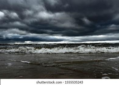 Sturmtag auf der Ostsee.