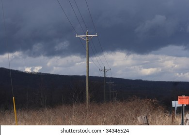 a stormy day with power lines