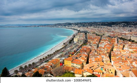 Stormy day in southern France, Nice France