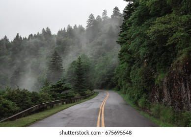 Stormy drive on the Blue Ridge Parkway