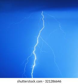 Stormy lightning bolt