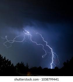 stormy night with lightning