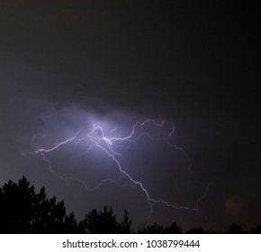 stormy night with lightning