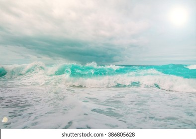 Stormy  ocean/sea with dramatic clouds