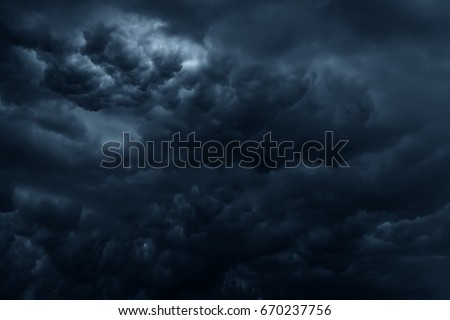 Stormy rain clouds background. Dark sky