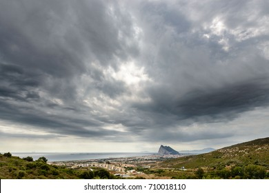 Stormy skies above the Rock of Gibraltar