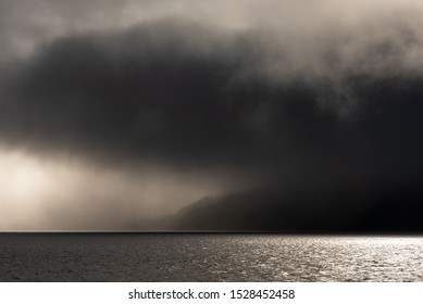 Stormy skies over the sea to Skye