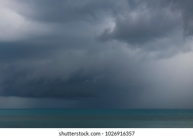 stormy sky above the sea
