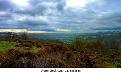 Stormy sky over Hope valley, Derbyshire Peak District