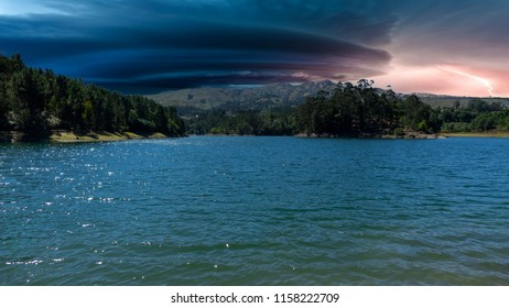 stormy sky of Portugal