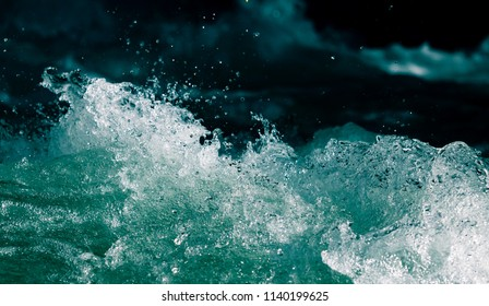 Stormy waves in the ocean as a background