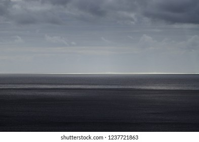 Stormy weather above the sea surface