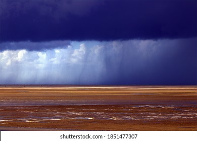 Stormy weather at Fort Mahon in Baie de Somme