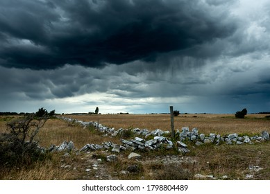 Stormy weather over the island of Öland