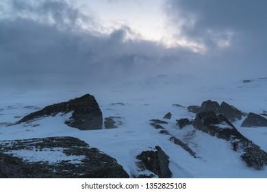 Stormy weather, Soeroeya Island, Finnmark, Norway