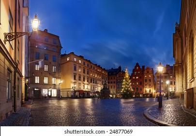 Stortorget at Christmas time, Stockholm, Sweden