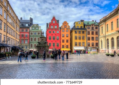 Stortorget square in Old town (Gamla Stan), Stockholm center, Sweden