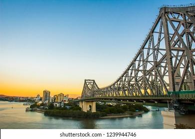 Story Bridge in Brisbane, Queensland, Australia.