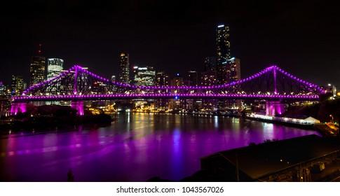 Story Bridge at Nighttime