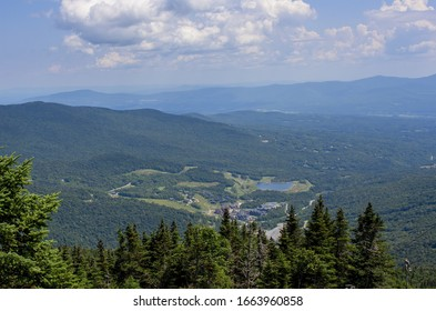 Stowe aerial view, Vermont, USA