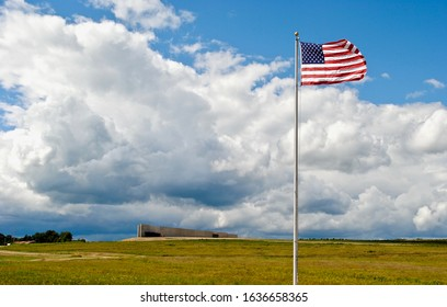 Stoystown, PA, USA - 2015: The Flight 93 National Memorial is located at the site of the crash of United Airlines Flight 93, which was hijacked in the September 11 attacks, in Stonycreek Township.