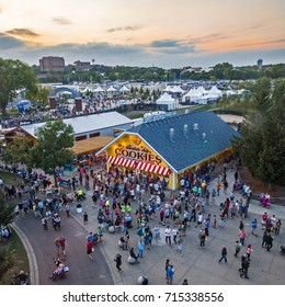 ST.PAUL, MN, USA - AUGUST 24th, 2017: Minnesota State Fair - crowds of people at the largest state fair in the USA