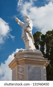 St.Paul statue near Parish Church of St.Paul, Rabat, Malta