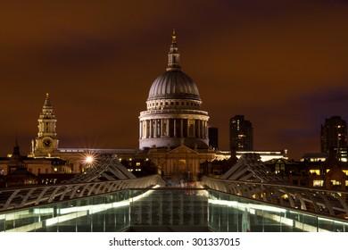 St.Paul's Cathedral and Millennium Bridge, London
