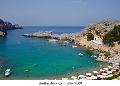 St-Pauls-Bay in Lindos/Greece