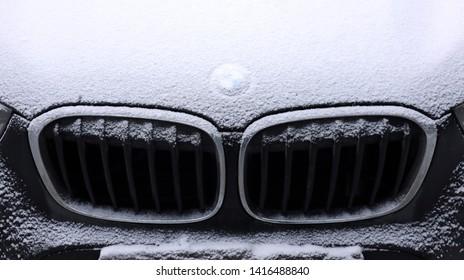 St-Petersburg / Russia - January 15 2019: BMW X1 stand on the Parking